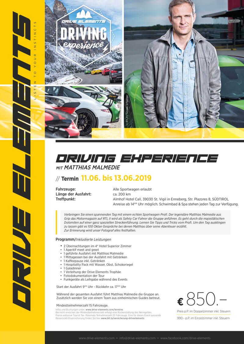 Driving Experience mit Matthias Malmedi
