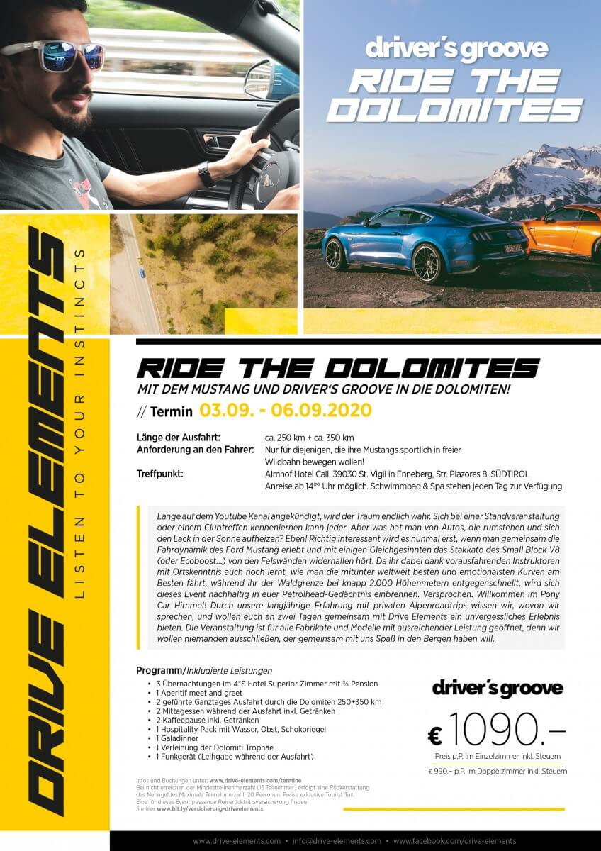 DRIVER'S GROOVE Ride the Dolomites 2020